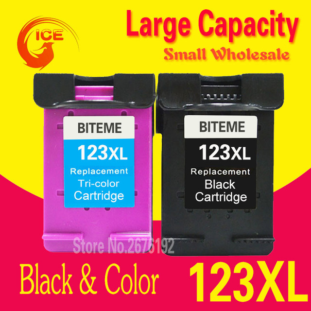Russia Belarus 2130 ink For HP 123 123XL Black Ink Cartridge For HP Deskjet 2130 1110 Printer IP123