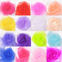 5m 48cm Tulle Roll Fabric Spool Tutu Sheer Crystal Organza for Home Party Wedding Decoration Baby Shower DIY Shirt Craft .