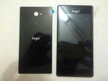Для Sony Xperia M2 D2303 Dual Sim Черный ЖК-Дисплей экран Панель + Сенсорный Экран Digitizer Стекло Ассамблеи + Рамка + назад крышка