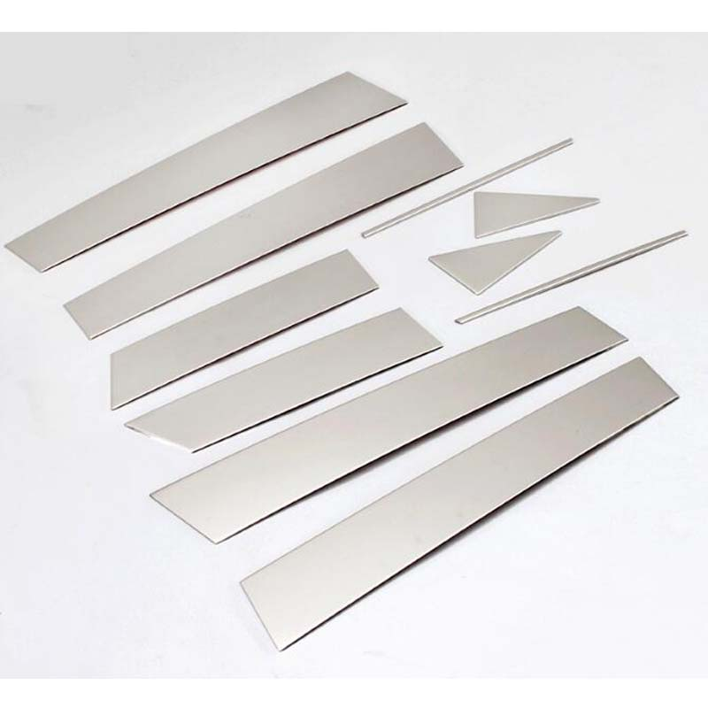 For <font><b>Nissan</b></font> <font><b>Qashqai</b></font> <font><b>2016</b></font> Car <font><b>Accessories</b></font> Window Pillar Post Covers Trim Sticker Stainless Steel Exterior Car Styling 10Pcs image