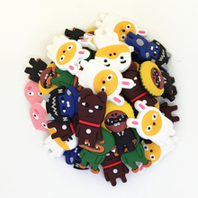 Wholesale 50pcs Random Mixed Kakao Shoe Decoration Shoe Charms fit Children Croc shoes Accessories Birthday Party Gifts