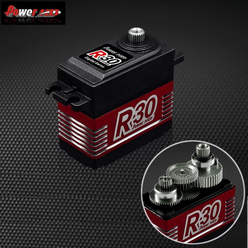 Potenza HD R30 30KG Ad Alta Tensione 6.0 7.4V Digital Servo per RC Auto 1:8 1:10 Rc Drift-in Componenti e accessori da Giocattoli e hobby su  Gruppo 1