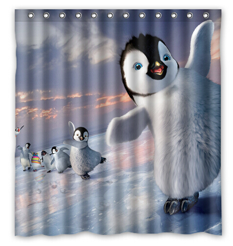 Achetez En Gros Penguin Shower Curtain Fabric En Ligne à Des