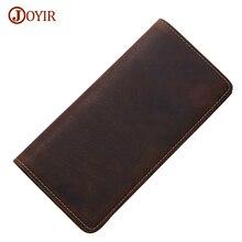 Joyir Brand Genuine Leather Wallet Long Purse Men Luxury Cow Wallet Men Real Leather Long Wallet Casual Carteira Masculina 2021B
