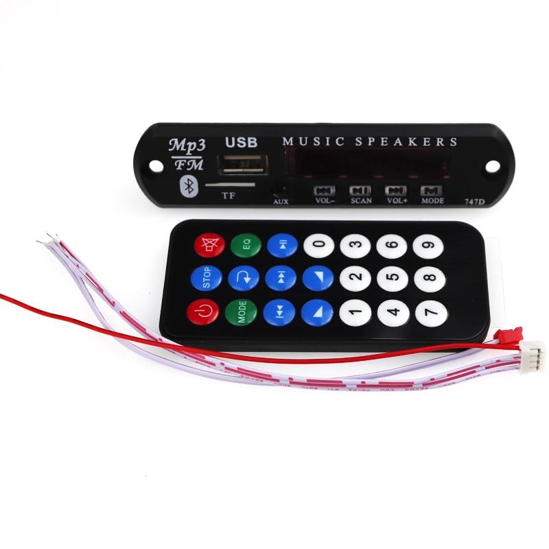 DC 12V Bluetooth MP3 WMA Decoder Board Audio Module USB TF Radio Wireless Music MP3 Player Remote Control For Car accessories(China)