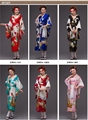 8 colors  new Japanese Women's Silk Satin Kimono Yukata Evening Dress Haori Kimono With Obi Japanese Geisha kimono One Size