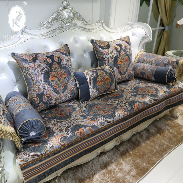 Sofa Cover European Luxury Sofa Cushion Slip Leather Chaise Combination Of  Spring And Summer Seat Cover