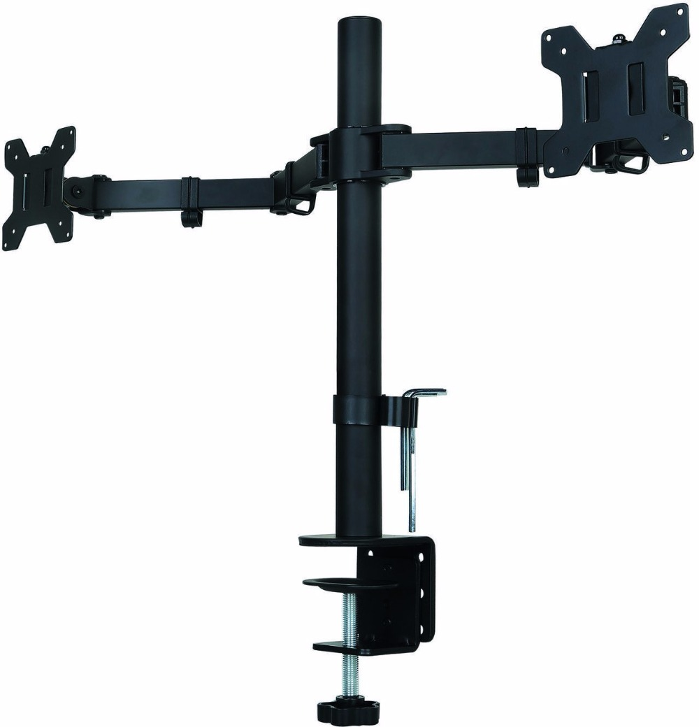 Suptek Fully Adjustable Dual Arm LCD LED Monitor Desk Mount Stand Bracket for 13-27 Screens with 15 degree Tilt lc171w03 b4k1 lcd display screens