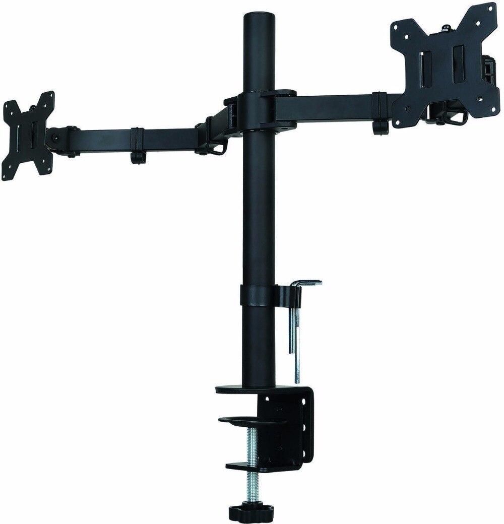 Suptek Voll Einstellbare Dual Arm LCD LED-Monitor Desk Mount Stehen Halterung für 13