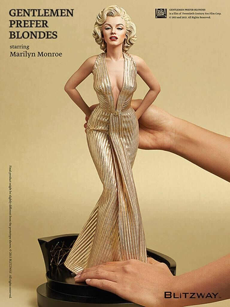 Hot <font><b>1/4</b></font> Scale 40cm <font><b>Sexy</b></font> Marilyn Monroe Collectors Action Figure Toys Christmas Gift Doll In Retail Box image
