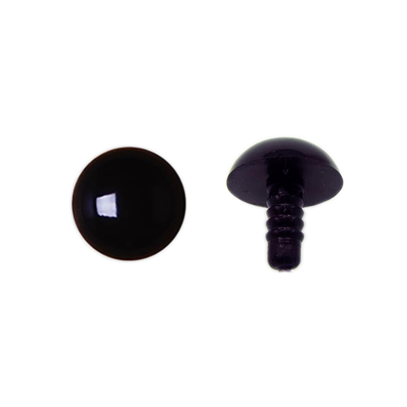 20mm olhos animais de pelúcia olhos de plástico diy olhos pretos bonecas accesoires 5 pares