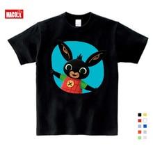 Children Cartoon Bing Rabbit/Bunny Funny T Shirt Baby Boys/Girls Summer Tops Short Sleeve T Shirts Kids Cute Clothes 3-12 Years все цены