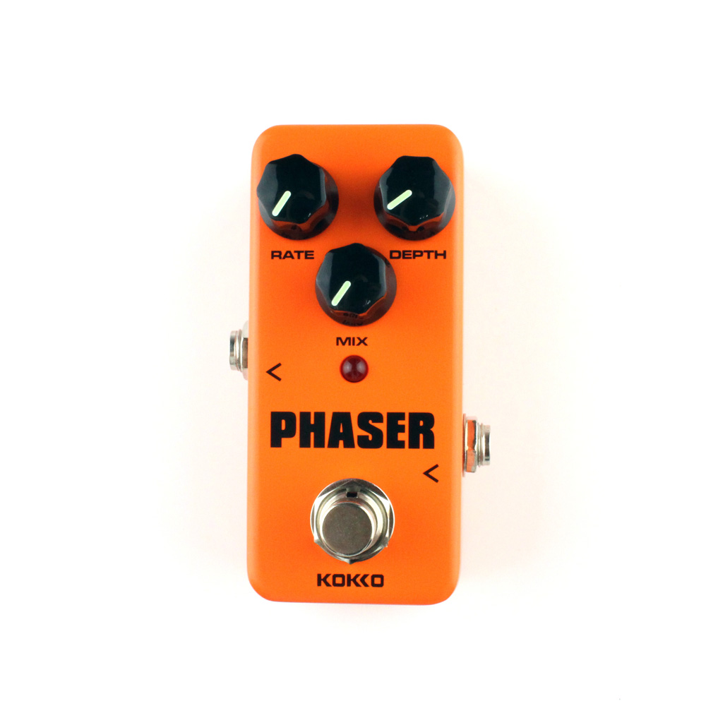 Analog Phaser Guitar Effects Mini Effect Pedal Rate Mix Depth Control Ture bypass Kokko mooer ensemble queen bass chorus effect pedal mini guitar effects true bypass with free connector and footswitch topper