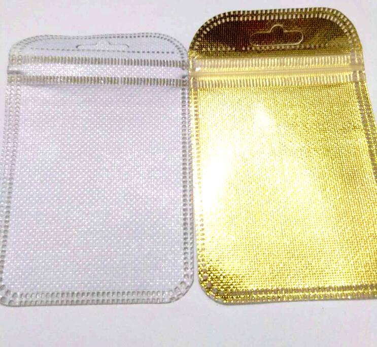 New 50Pcs/lot inside size 4.5x6cm 6x8cm gold foil bag Jewelry Packing Pouches Gift Bags