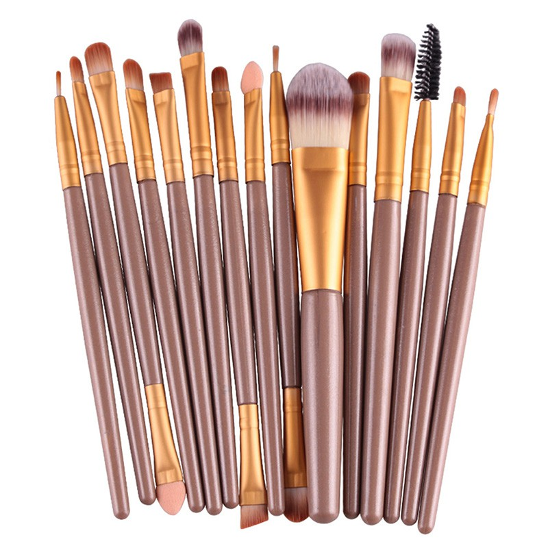 15pcs/6pcs Makeup Brushes Synthetic Make Up Brush Set Tools Kit Professional Cosmetics High Quality 147 pcs portable professional watch repair tool kit set solid hammer spring bar remover watchmaker tools watch adjustment