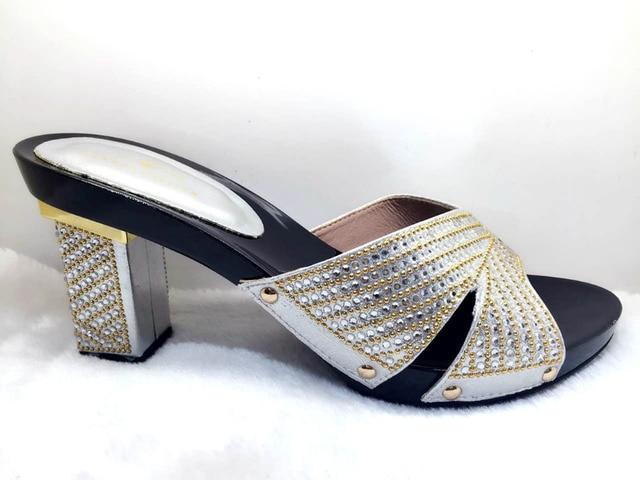 Sandales femme nouvel été épais fond de la plate-forme de haut talon strass 4FACPwsUyO