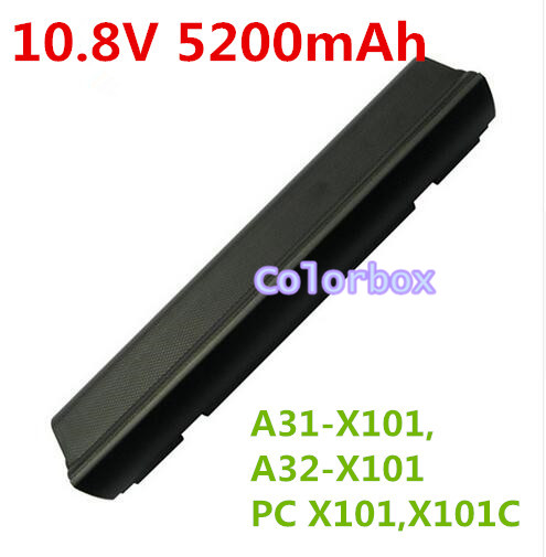 ФОТО New 10.8V 6 CELL Laptop Battery A31-X101 A32-X101 For ASUS Eee PC X101 X101C X101CH X101H Series  5200mAh