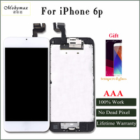 Moybmax AAA Quality LCD Display For Iphone 6p Touch Screen Digitizer Full Assembly With Front Camera