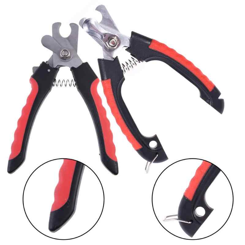 Pet Dog Safety Nail Clipper Cutter 2019 Professional Grooming Scissors Clippers for Animals Cats with Lock Size S M Nail Cutter