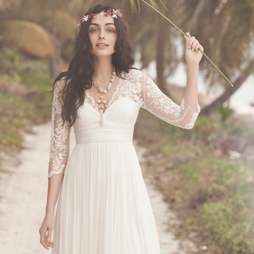 Compare prices on junior bridesmaid white dress online shopping modest 2015 lace white dress to party with long sleeves v neck knee length chiffon ombrellifo Choice Image