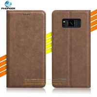 New Brand Retro PU Leather Case For Samsung Galaxy S8 Active Vintage Full Protection Leather Cover