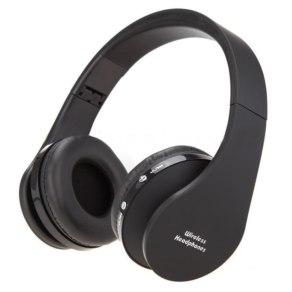 Foldable Bluetooth Wireless Headset Sport Stereo Headphone Earphone Handfree Mic Color:Black qcy qy7 wireless bluetooth 4 1 stereo sport earphone headphone studio music headset with mic black green