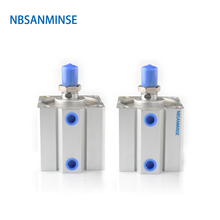 NBSANMINSE SDA32 With Magnet Compact Cylinder AirTAC Type Double Acting Cylinder Pneumatic Parts Air Cylinder