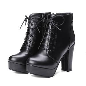 Image 3 - MORAZORA wholesale big size 34 48 ankle boots for women zipper fashion high heels boots autumn winter platform boots female