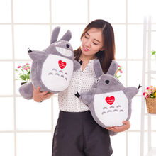 "Hot Sale 15.7""40CM Staffed Totoro Plush Toys Famous Cartoon Toys Brinquedos Dolls High Quality Dolls free shipping"