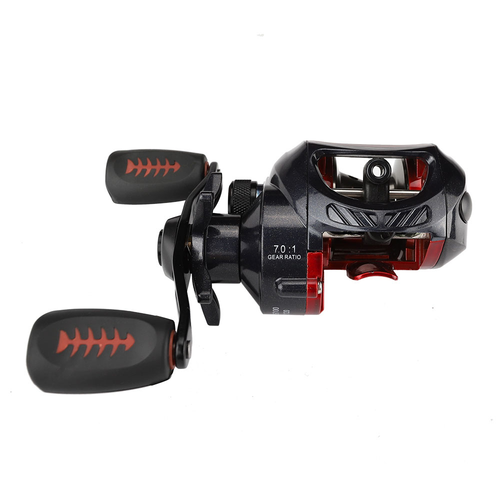 High Quality Drag Power 6KG Baitcasting Reel 7.0:1 Bait Casting Fishing Reel Magnetic and Centrifugal Dual Brake