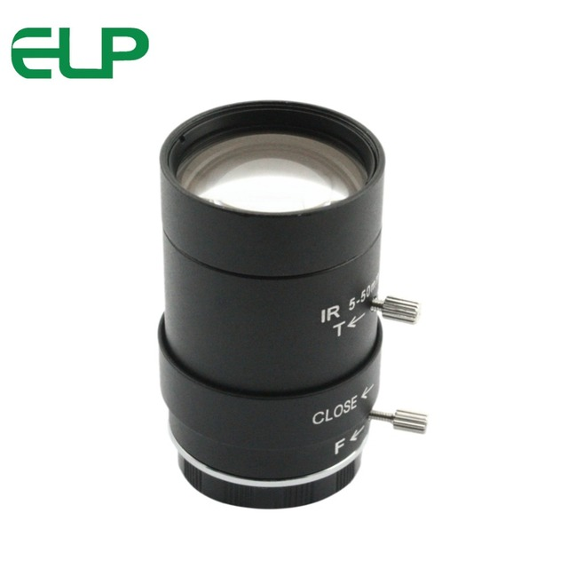 5 50mm Megapixel manual varifocal lens CMOS/ CCD 1/3 CCTV lens CS mount for CCTV camera