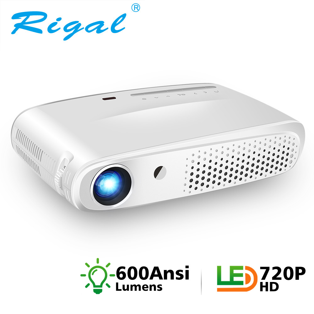 Rigal RD602 DLP Mini 3D Projector 600Ansi 7000 Lumen Android WiFi Projector Active Shutter 3D Full