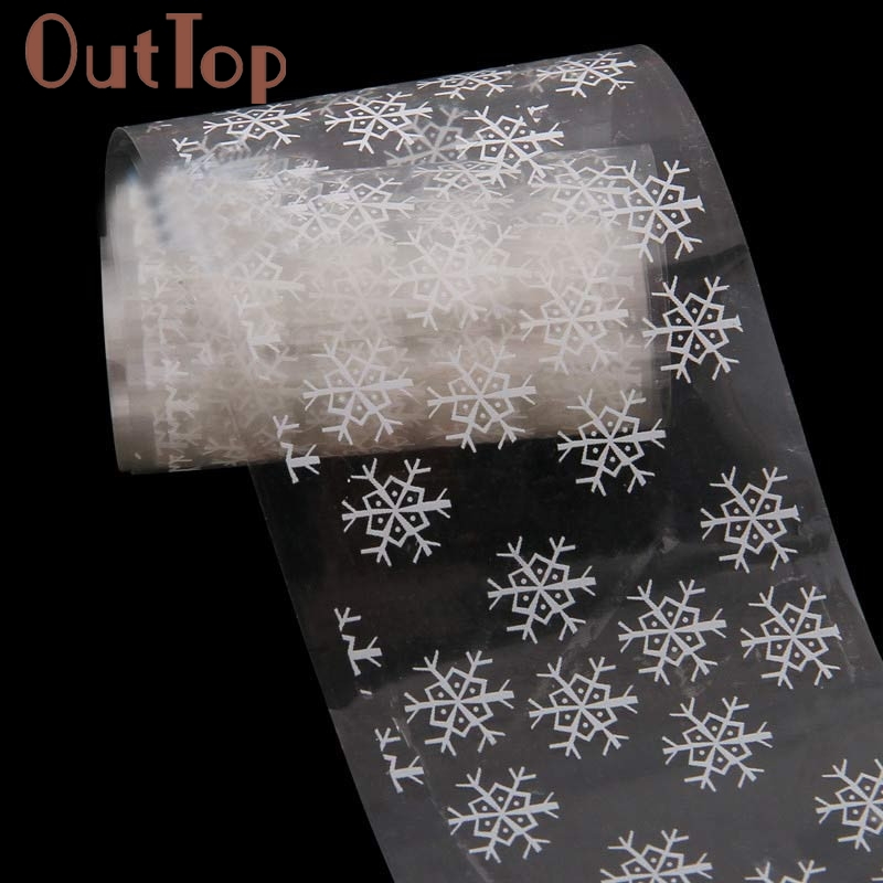 GRACEFULStarry Snowflower Design Nail Art Foil StickersTransfer Decal Tips Manicure The sticker on the nails FREE SHIPPING AUG23