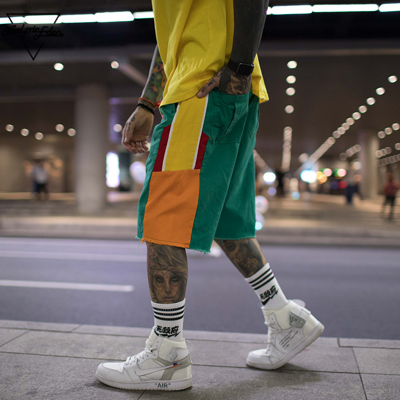 AELFRIC Men Cotton Shorts Casual Streetwear Cargo Short Summer Sportswear Jogger Hip Hop Bermuda Shorts Male Beach Shorts UR17