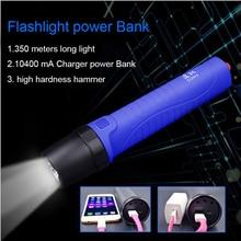 USB power Bank CREE XP G2 R5 Led built in battery 10400 mAh flashlight Diving light