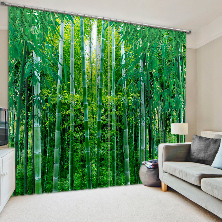 Kitchen Curtains In The Living Room 3D Photo Christmas Window For room Decoration