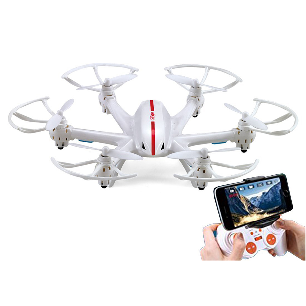 MJX X800 2.4GHz 4CH 6-Axis Gyro 360-degree Eversion Remote Control Mini RC Hexacopter (White) remote controller 2 4g rc transmitter for mjx x800 hexacopter