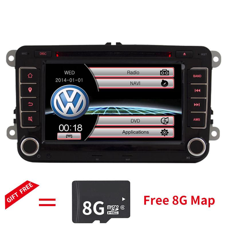 Wholesale! Alyvat 2 din 7 Car DVD Multimedia player GPS Navigation Autoradio For VW/passat b6 /SEAT leon 2 Altea Toledo Skoda