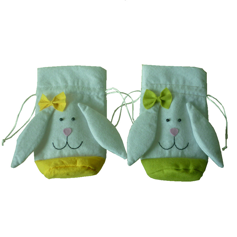 Easter decorations for home rabbit ear gift bags cute for Rabbit decorations home
