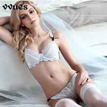 VVUES Lace Push Up Bra Set Lingerie Bra Set Seamless Push up Bra Bralette Plus Size Underwire Intimate Underwear Brassiere 2019