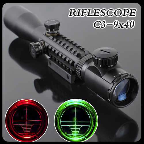 Gun-Sight C3-9X40 LLL Night Rifle Scopes Air Rifle Gun Riflescope Outdoor Hunting Telescope Sight High Reflex SNIPER Sight