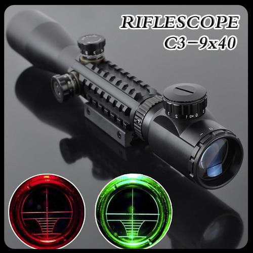 Gun-Sight C3-9X40 LLL Night Rifle Scopes Air Rifle Gun Riflescope Outdoor Hunting Telescope Sight High Reflex SNIPER Sight