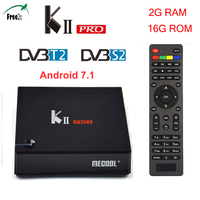 KII PRO DVB S2 DVB T2 S905 Android 7.1 TV Box 2GB 16GB 2.4G &5G Dual WiFi BT4.0 support Youtube K2 pro Media player