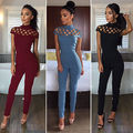 New Arrivals Fashion Women Casual Short Sleeve Jumpsuits Bodysuit Romper Jumpsuit Club Long Pants Hot