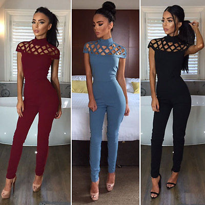 7ac0351bd1fd New Arrivals Fashion Women Casual Short Sleeve Jumpsuits Bodysuit Romper  Jumpsuit Club Long Pants Hot