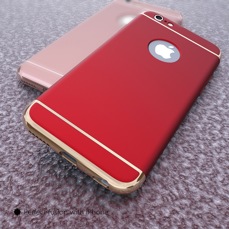 red iphone 6 מוצר luxury gold removable 3 in 1 plastic 12845