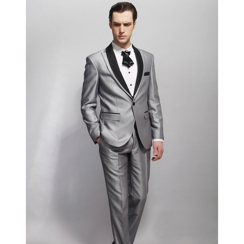 New Design Jacket For Groom Tuxedos 2 psc Groomsman Suit As Wedding Suit Custom Made Man ...
