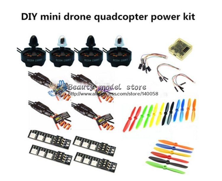 DIY quadcopter power kit CC3D + D2204 2300KV + EMAX BLheli 12A ESC+5045/6045 propellers for nighthawk 250 / Robocat 270 / QAV250 qav250 zmr250 mini drone quadcopter diy pure carbon frame kit emax2204 2300kv motor emax simon k 12a esc cc3d 5045 prop