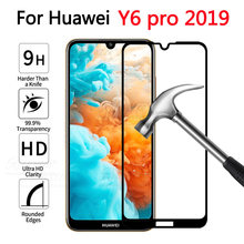 case on For Huawei Y6 pro 2019 Full cover Tempered Glass For Huawei huawey hauwei y 6 Y6 prime pro 2019 Protective touch glass(China)