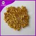 Frete grátis 100 pcs Ouro anel de tubo de metal contas para contas de cabelo para dreadlocks tranças dreadlock cabelo braid cuff ajustável clips